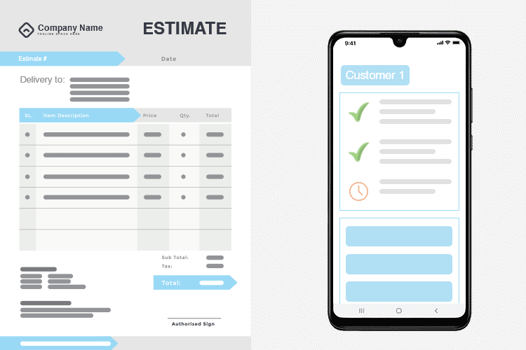 Electrician Estimating Software - Create estimates from the Mobile App