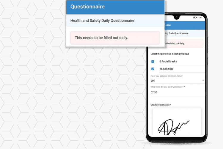 Use questionnaires to follow health and safety protocols and keep mobile workers safe