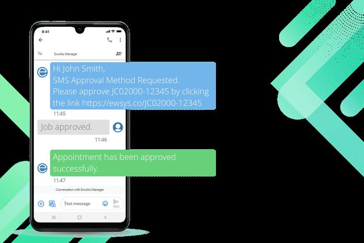 Service Management System- SMS Job Approval