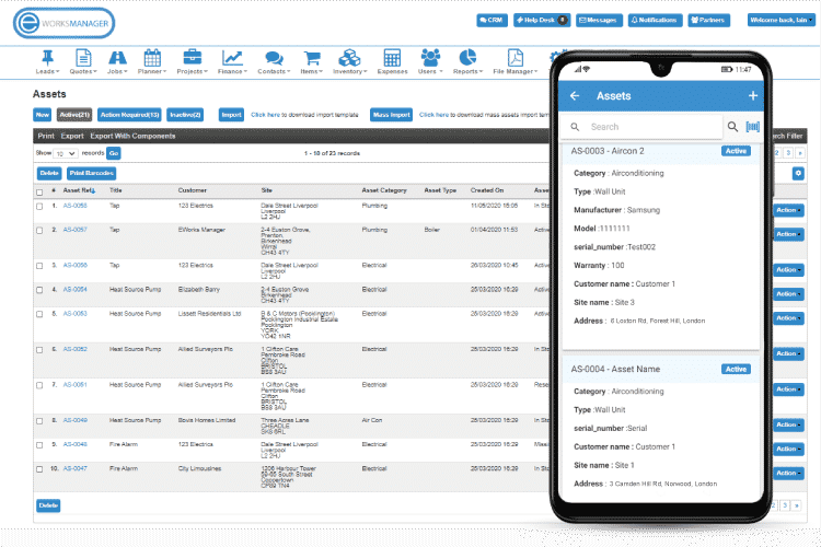 Gas Engineer Software - Asset Management - keep track of all office and customer assets