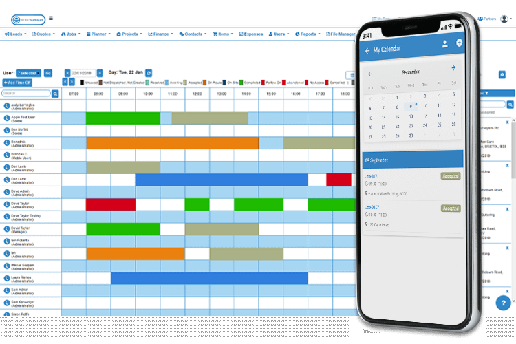 Scheduling App - Track and Plan jobs with ease