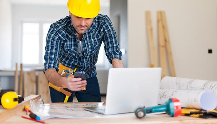 Contractor using CMMS Software