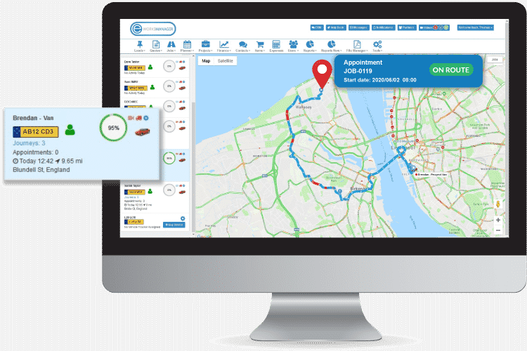 Track your electricians in the field