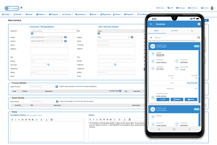 Mobile Invoice App - Stand-Alone Finance Software