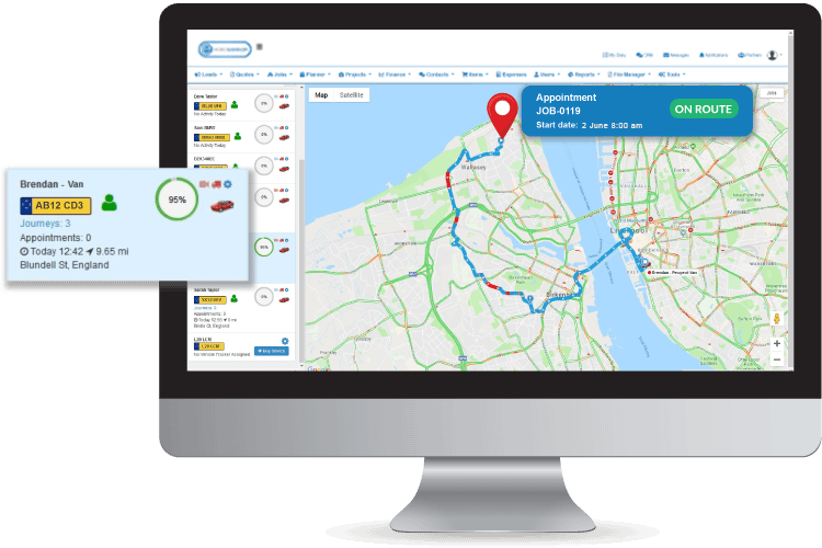 Plumbing and Heating Software - Track your plumbers in the field