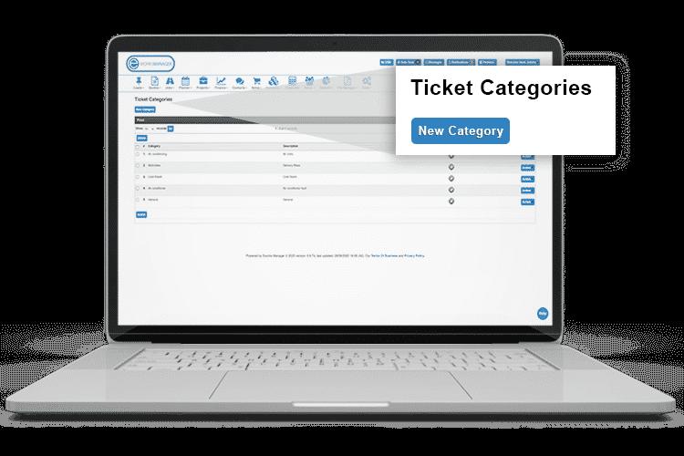 Help Desk Software - Ticket categories