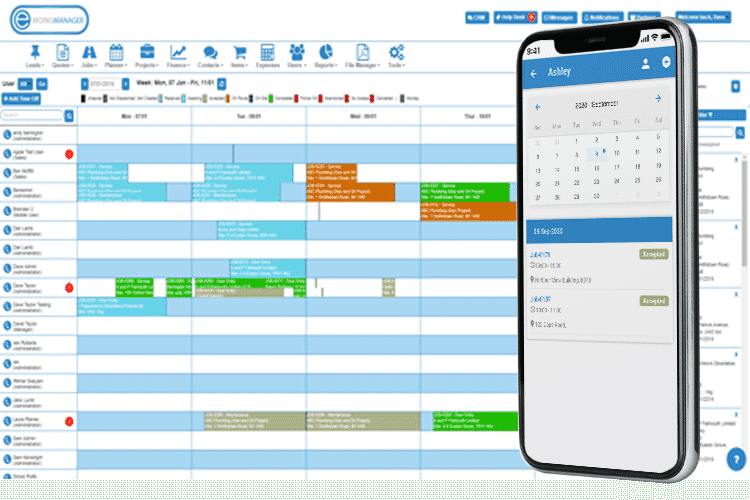 Job Management Software - View Your Schedule and Track Job Progress