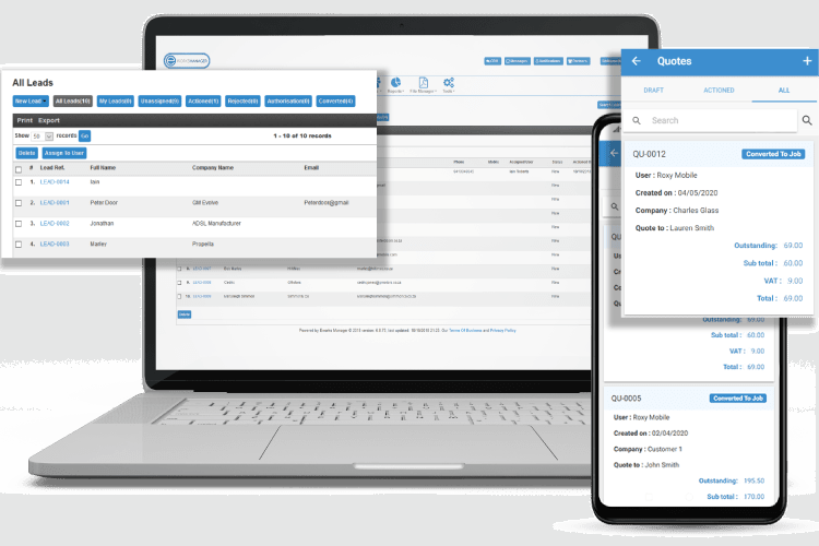 ERP Software - Track Leads and Quote On-site