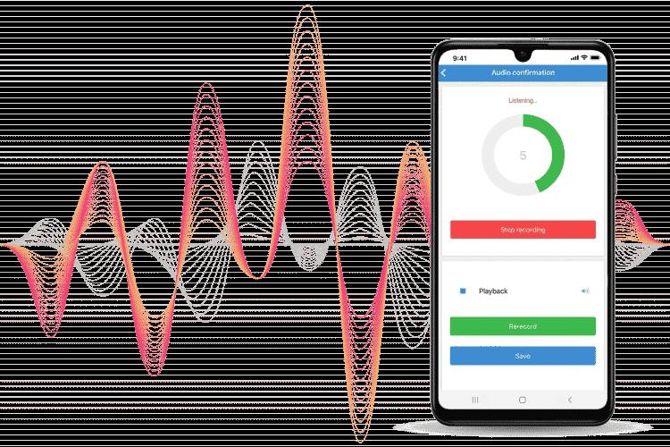 Job Tracking Software - Approve jobs via audio method