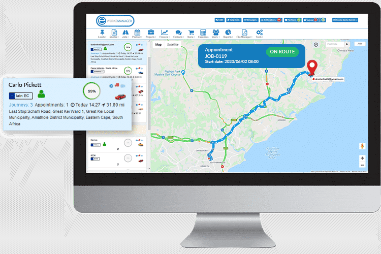 Plumbing Software - Track your plumbers in the field