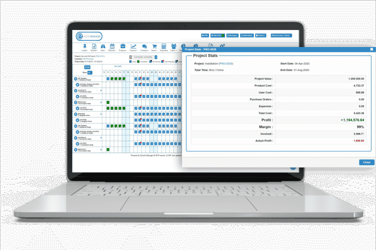 Purchase Order Management System - Job, Project and Customer Profitability