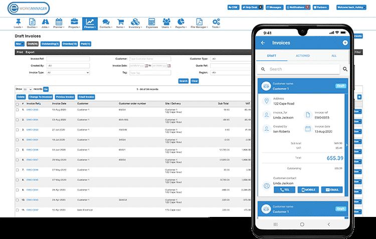 Mobile Invoice App - Finance Software
