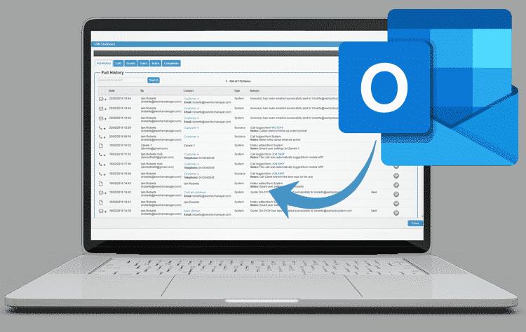Business Management Software - Outlook Integration