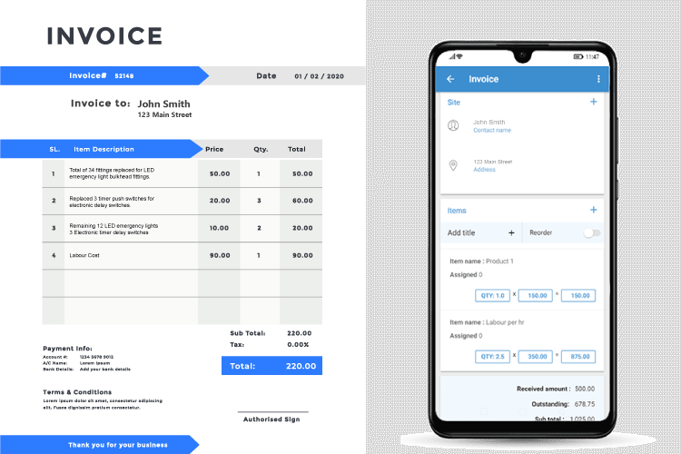 Task Management System - Automated job costing – invoice immediately
