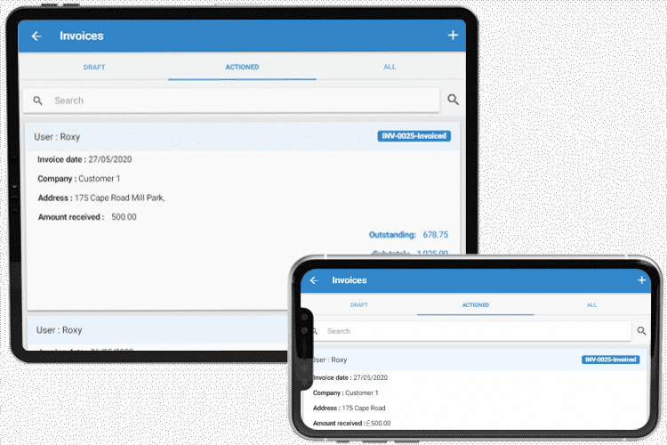 Mobile Invoicing App - Take Deposits and Record Payments