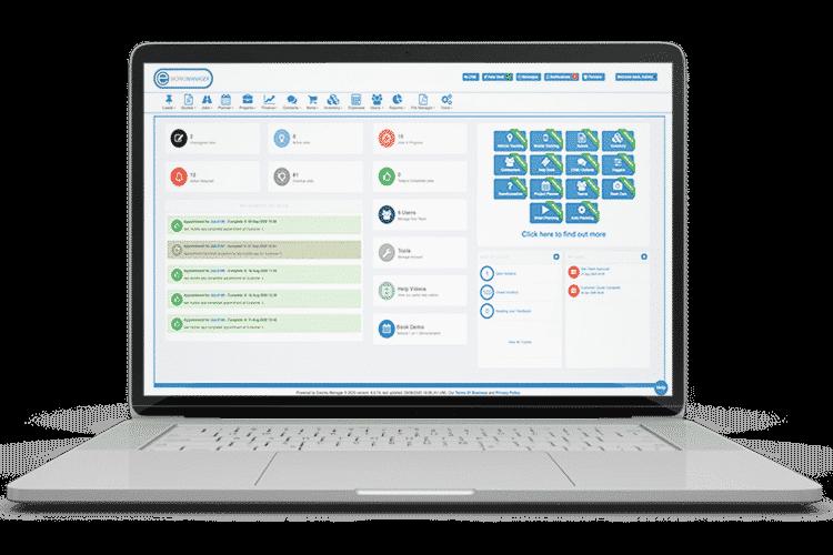 Field Service Management Software - Main Dashboard