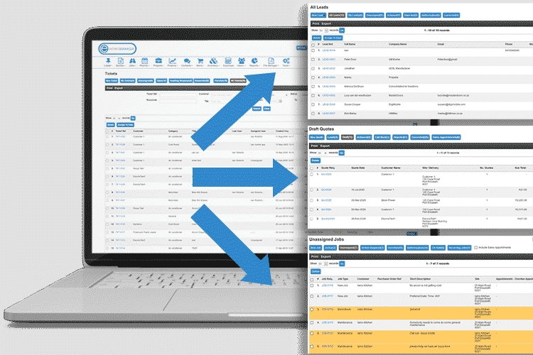 Help Desk Software - Convert tickets to leads, jobs, quotes and more