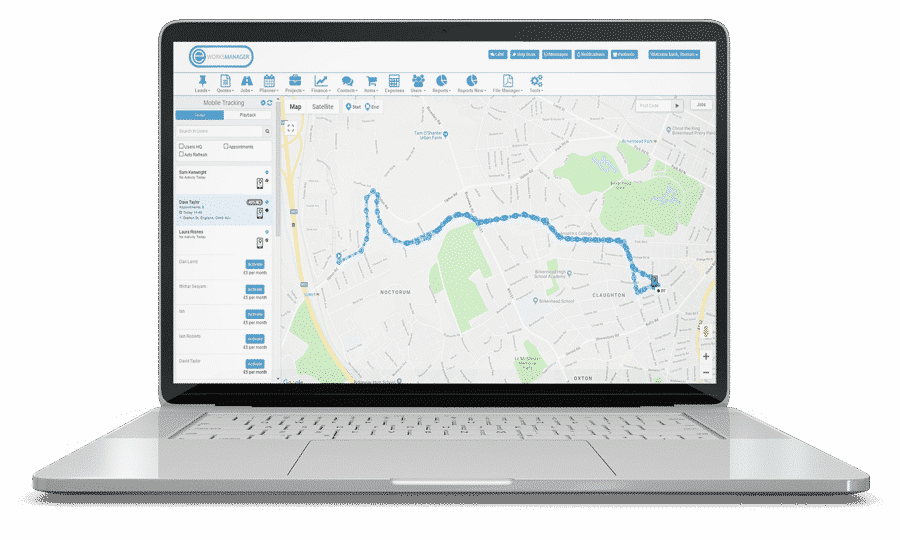 Staff tracking software - Live Mobile Tracking System