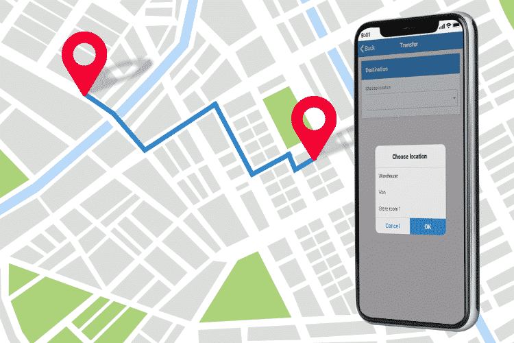 Mobile Inventory App - Transfer Stock Location